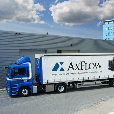 AxFlow vrachtwagen distributiecentrum