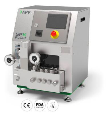 APV Pilot 4T Homogenisator ermöglicht das Testen verschiedener Rezepturen in der Lebensmittel-, Getränke- und Hygieneproduktion