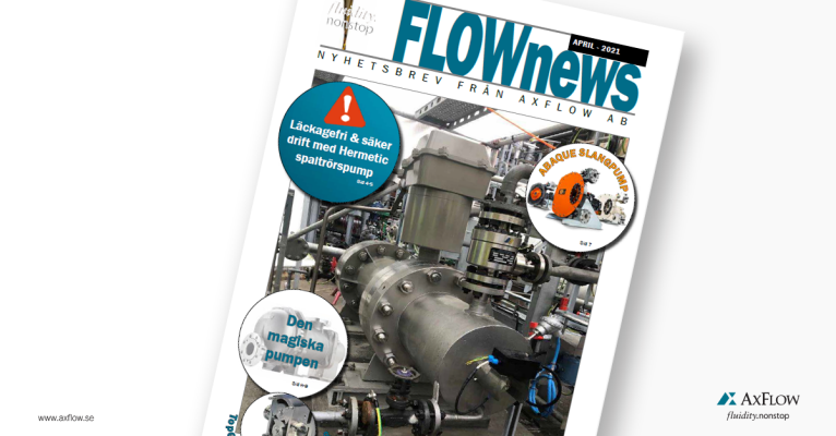 AxFlow kundtidning FLOWnews april 2021