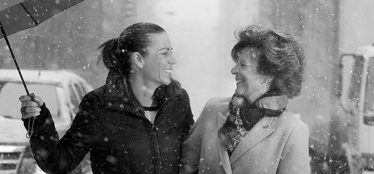 Два покоління сім'ї. Каролін Берг, голова Акселя Джонсона АБ, з Антонією Акс: син Джонсон у березні 2015 року