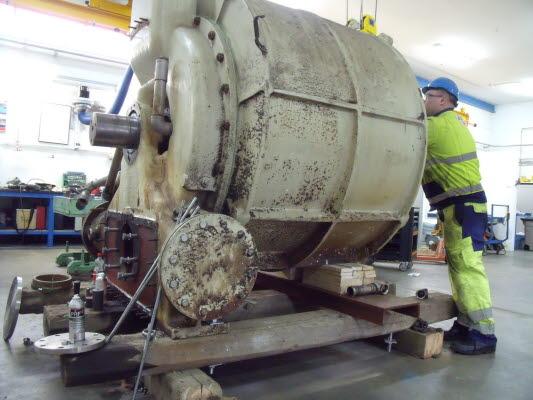 Reparation av NASCH vakuumpump