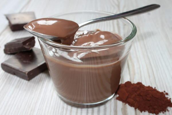 Chocolate pudding with mix chocalte powder