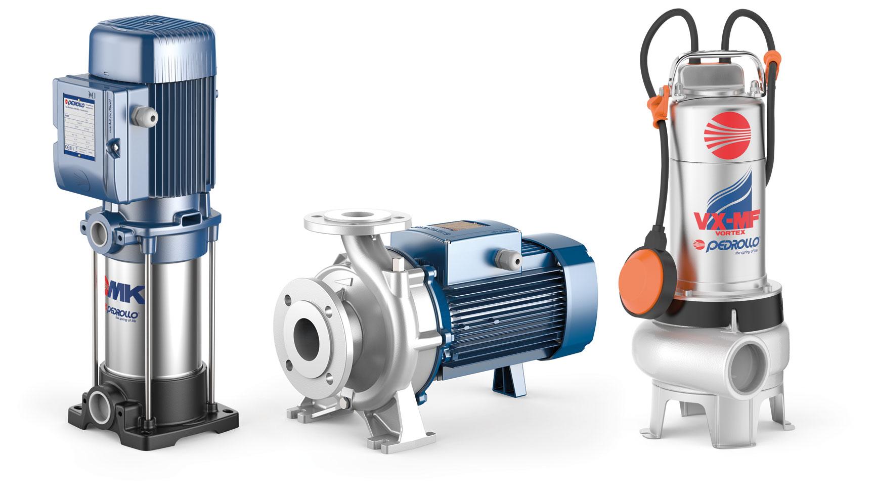 Die Kreiselpumpen von Pedrollo fördern Wasser in Unternehmen, der Industrie und Gebäudetechnik zuverlässig