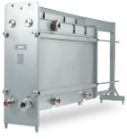 Gasket plate heat exchangers for sanitary applications