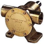 Pompa Johnson Pump a girante flessibile in bronzo