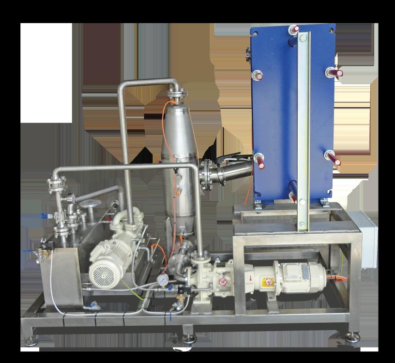 Vacuum system in muesli production