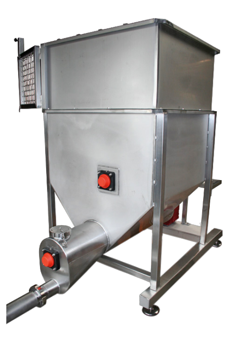 Hoppers with Feed Screw